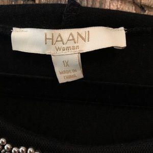 Haani Dresses - Haani, 1X, NWT, Black Cocktail Dress w/Cape